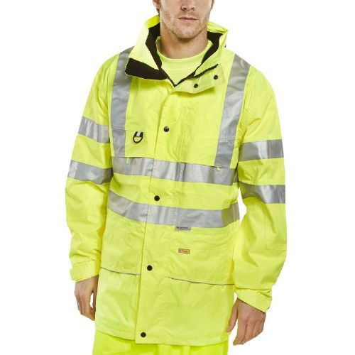 BSeen Hi Vis Yellow Carnoustie Jacket